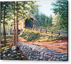 Corbin Covered Bridge Acrylic Print by Elaine Farmer