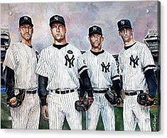 Core 4 Yankees  Acrylic Print by Michael  Pattison