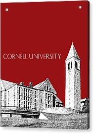 Cornell University - Dark Red Acrylic Print by DB Artist