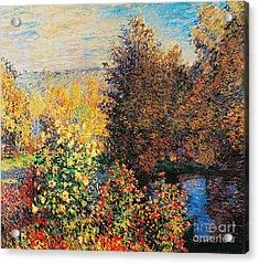 Corner Of Garden In Montgeron Acrylic Print by Claude Monet