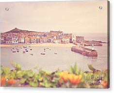 Cornish Harbour Acrylic Print by Lyn Randle
