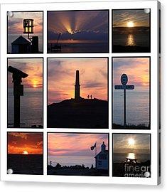 Cornish Sunsets Acrylic Print by Terri Waters