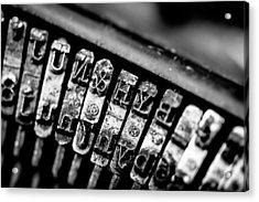 Corona Four Typewriter Detail Acrylic Print by Jon Woodhams
