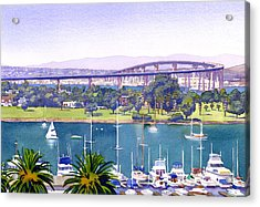 Coronado Bay Bridge Acrylic Print by Mary Helmreich