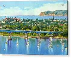 Coronado Island California Acrylic Print by Mary Helmreich