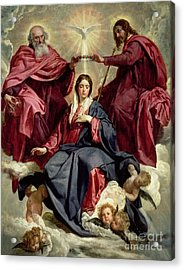 Coronation Of The Virgin Acrylic Print by Diego Velazquez