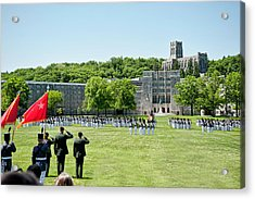 Corps Of Cadets Present Arms Acrylic Print by Dan McManus