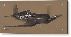 Corsair Triple Ace Acrylic Print by Wade Meyers