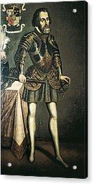 Cort�s, Hern�n 1485-1547. Painting Acrylic Print by Everett