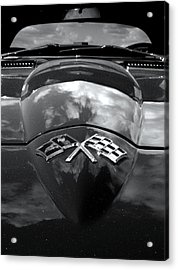 Corvette In Black And White Acrylic Print by Bill Gallagher