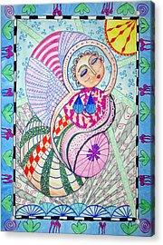 Cosmic Bliss Acrylic Print by Sandra Lewis