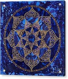 Cosmic Blue Lotus Acrylic Print by Charlotte Backman