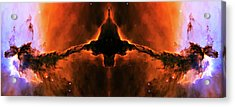 Cosmic Fire Fish Acrylic Print by The  Vault - Jennifer Rondinelli Reilly