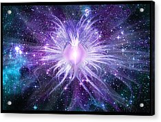 Cosmic Heart Of The Universe Acrylic Print by Shawn Dall