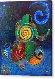 Cosmic Presence Acrylic Print by Indigo Carlton