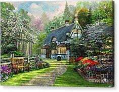 Cottage Pub Acrylic Print by Dominic Davison