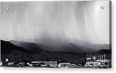 Cottonwood Rain Acrylic Print by Arne Hansen