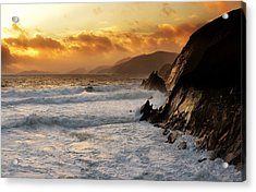 Coumeenole Acrylic Print by Florian Walsh