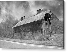 Country Barn Country Moon Country Acrylic Print by Betsy Knapp