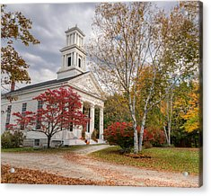Country Chapel Acrylic Print by Bill Wakeley