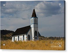 Country Church Acrylic Print by Birches Photography