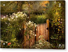 Country - Country Autumn Garden  Acrylic Print by Mike Savad