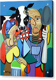 Country Cubism Acrylic Print by Anthony Falbo