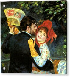 Country Dance Detail Acrylic Print by Pierre Auguste Renoir