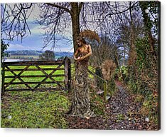 Country Girl Acrylic Print by Alex Hardie