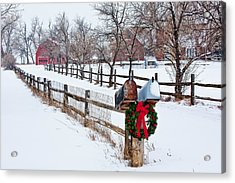 Country Holiday Cheer Acrylic Print by Teri Virbickis