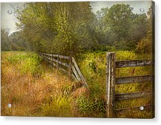 Country - Landscape - Lazy Meadows Acrylic Print by Mike Savad