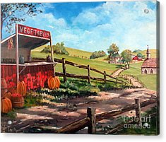 Country Life Acrylic Print by Lee Piper