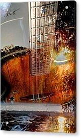 Country Music Digital Guitar Art By Steven Langston Acrylic Print by Steven Lebron Langston