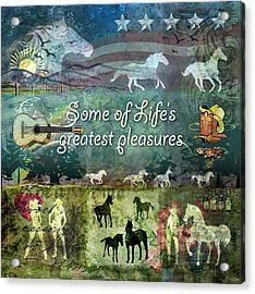 Country Pleasures Acrylic Print by Evie Cook