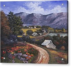 Country Road Acrylic Print by Darice Machel McGuire