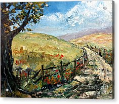 Country Road Acrylic Print by Lee Piper