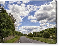 Country Roads Acrylic Print by Georgia Fowler