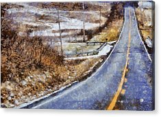 Country Roads In Ohio Acrylic Print by Dan Sproul