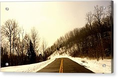 Country Roads Take Me Home Acrylic Print by Danielle  Broussard