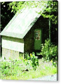 Country Shed Acrylic Print by Florene Welebny