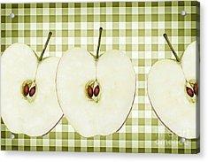 Country Style Apple Slices Acrylic Print by Natalie Kinnear