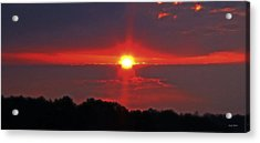 Country Sunrise 003 Acrylic Print by George Bostian