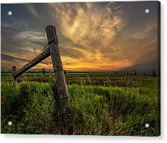 Country Sunrise Acrylic Print by Aaron J Groen