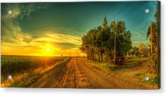 Country Sunrise Acrylic Print by  Caleb McGinn