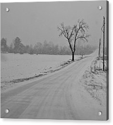 Country Winter Roads Acrylic Print by Dan Sproul