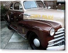 County Police Acrylic Print by John Rizzuto