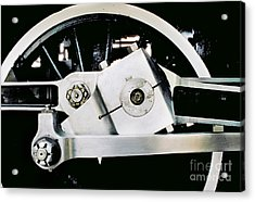 Coupling Rod And Driver Wheels For A Steam Locomotive Acrylic Print by Wernher Krutein