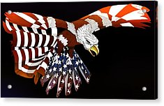 Courage Acrylic Print by Charles Drummond