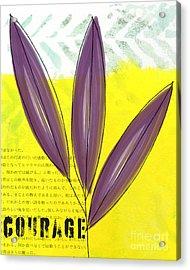 Courage Acrylic Print by Linda Woods