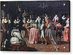 Court Ball, 16th Century Acrylic Print by Granger